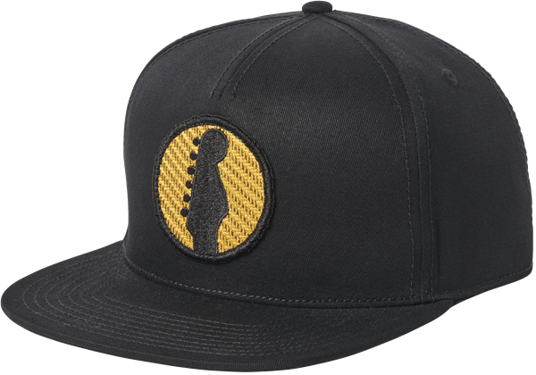 Fender® Headstock Twill Snapback Hat, Black