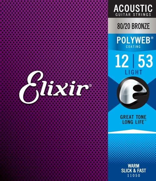 Elixir 11050 Acoustic 80/20 Bronze Strings with POLYWEB
