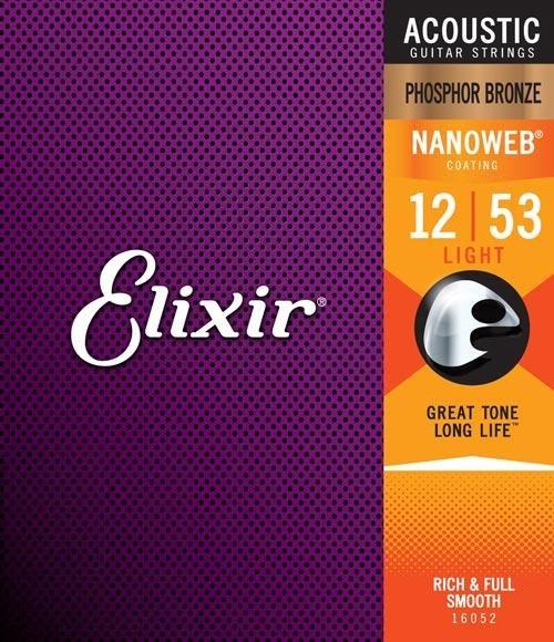 Elixir 11052 Acoustic 80/20 Bronze Strings with NANOWEB