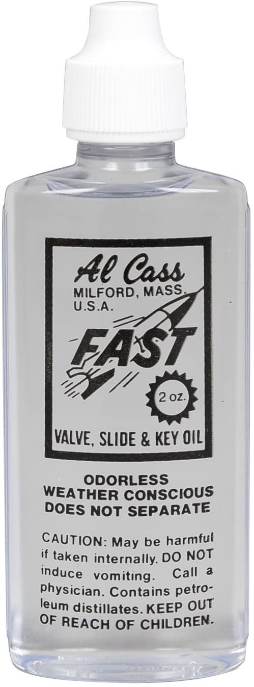 Al Cass Oil  - combination valve, slide and key oil - 2 oz.