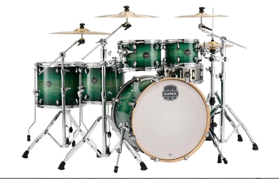 Mapex AR628S Armory 6-Piece Studioease Shell Pack Fast Toms - Emerald Burst (FG)
