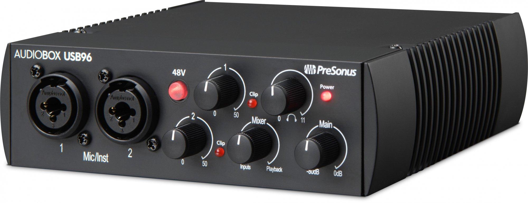Presonus AudioBox USB96 25th Anniversary Edition: 2x2 USB 2.0 Audio Interface