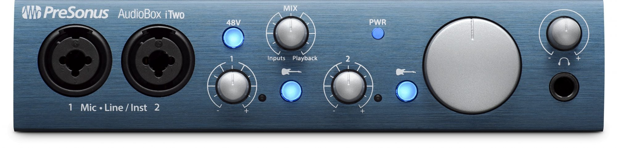 Presonus AudioBox iTwo: 2x2 USB 2.0 / iOS interface w/2 Mic inputs Studio One Artist