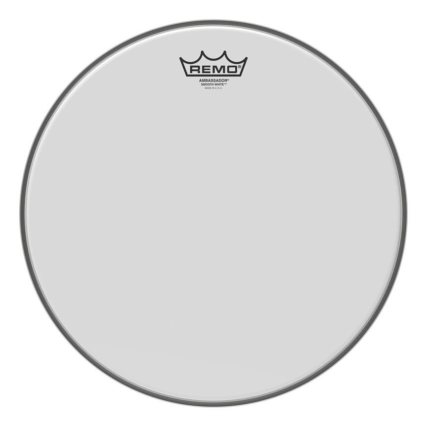 Remo BA-0214-00 Ambassador Smooth White Series Drumhead Snare/Tom 14? Diameter Model