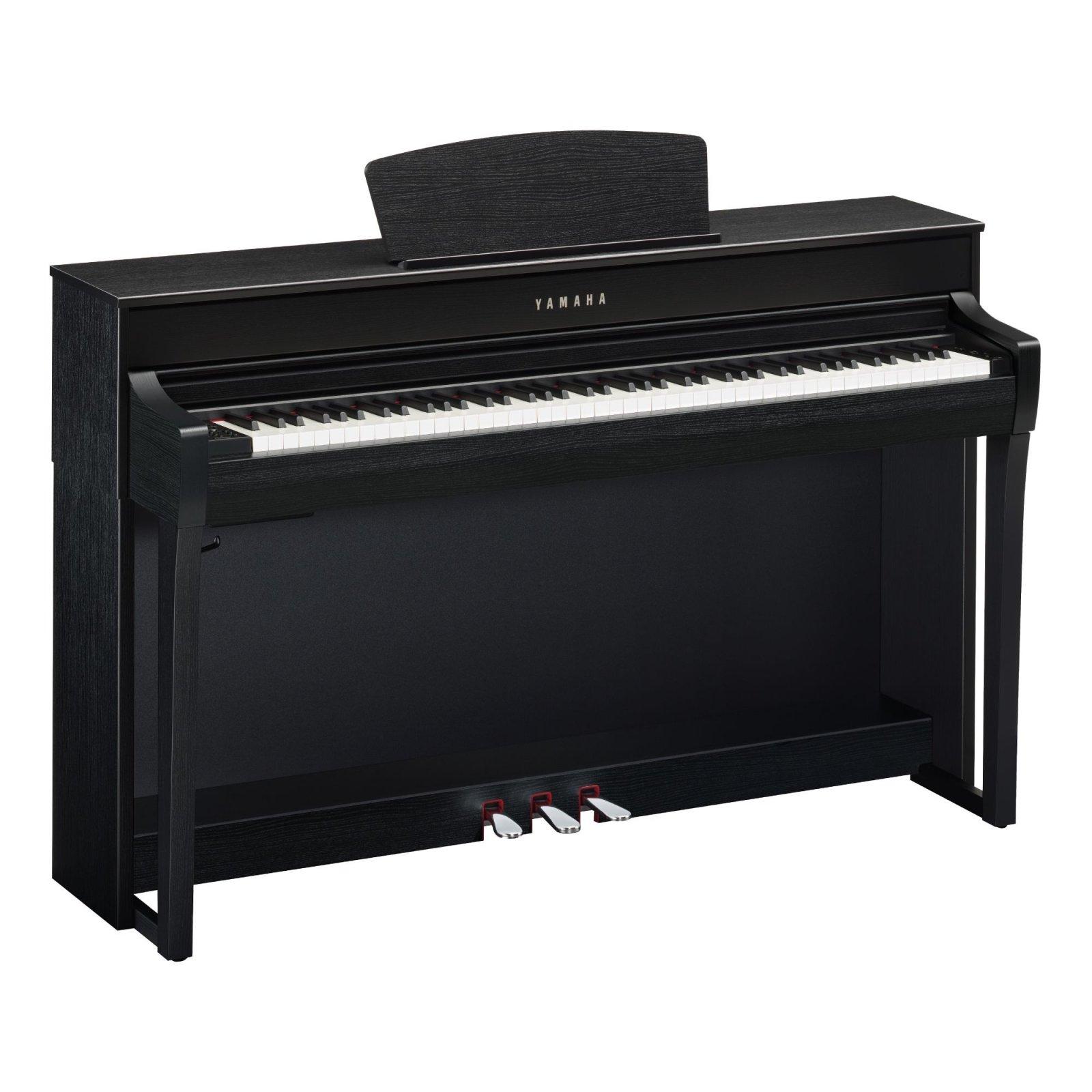 Yamaha CLP-735B Clavinova console digital piano - Matte black - with bench