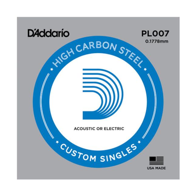 D'Addario PL015 Plain Steel Guitar Single String .015