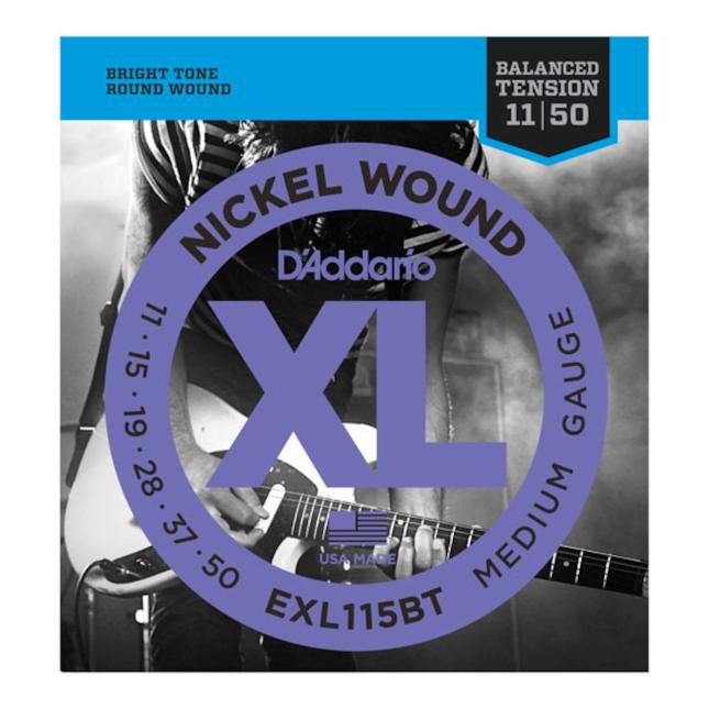 D'Addario EXL115BT Nickel Wound Electric Guitar Strings Balanced Tension Medium 11-50