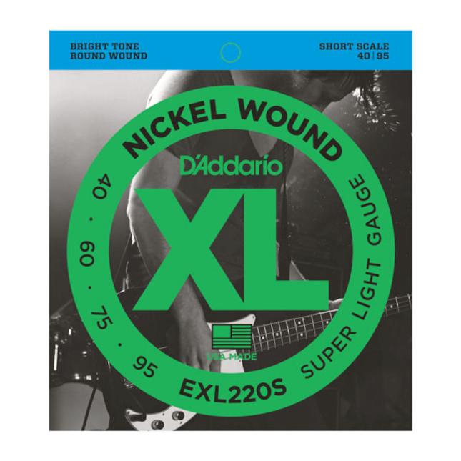 D'Addario EXL220S Nickel Wound Bass Guitar Strings Super Light 40-95 Short Scale