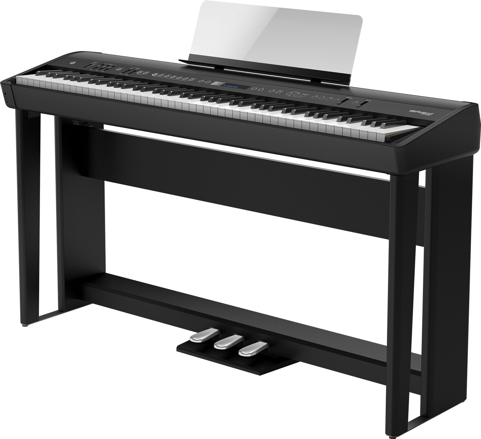 Roland FP-90-BKC Flagship Premium 88-note digital piano includes legs and pedal board