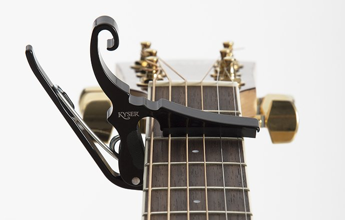 Kyser KGDBA Capo - Guitar - Drop D - Quick-Change - Black