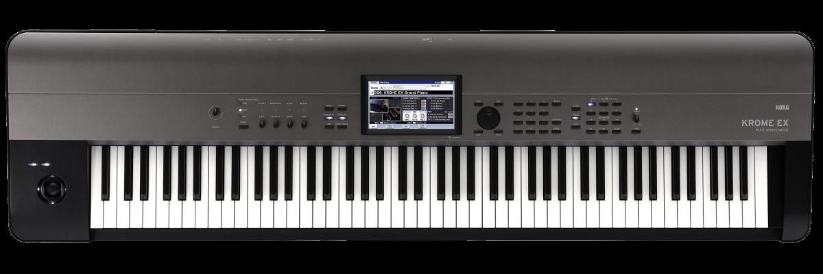 Korg KROME EX-88 - Music Workstation - 88 key NH (Natural Weighted Hammer Action) keyboard. Velocity sensitive