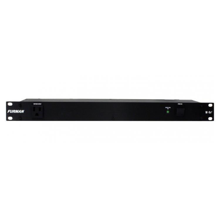 Furman M-8X2 15A Standard Power Conditioner, 9 Outlets, 1RU, 6Ft Cord