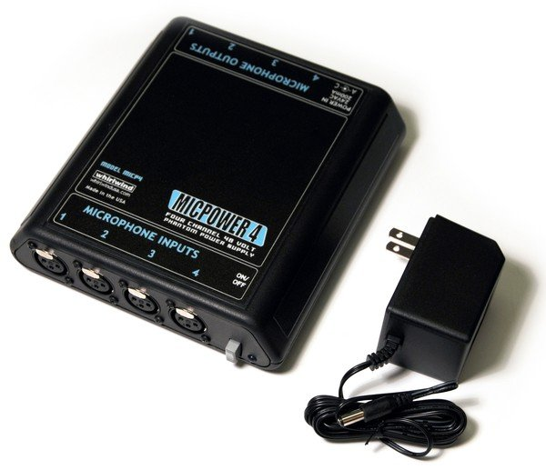 Whirlwind MICPOWER 4 (MICP4) premium 4 channel stereo phantom power supply