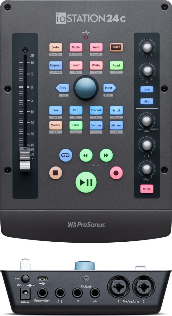 Presonus ioStation 24c: 2x2 USB-C compatible audio interface and production controller