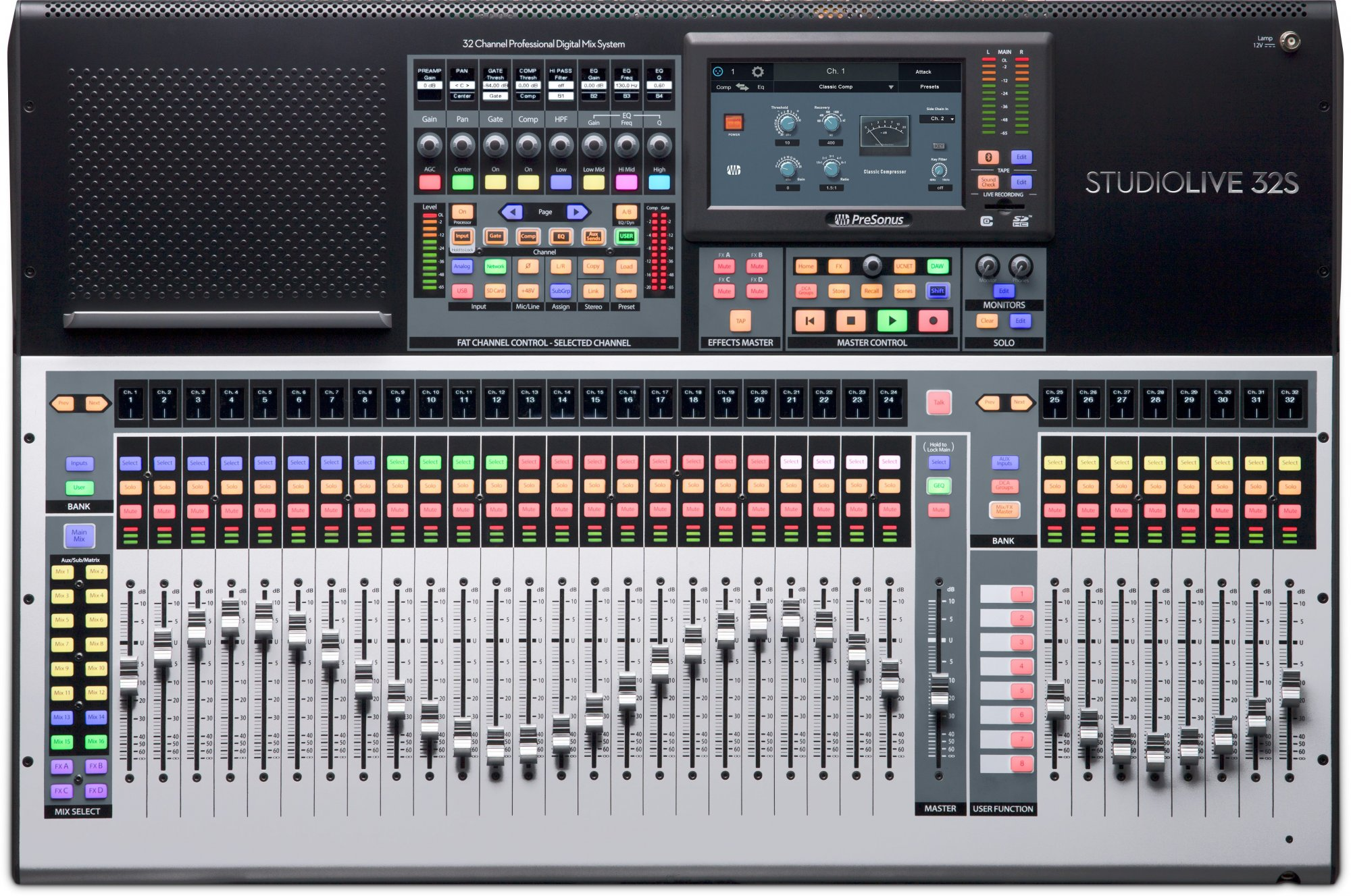 Presonus StudioLive 32S Series III 32-Channel/22-bus digital console/recorder/interface with AVB networking and dual-core FLEX DSP Engine