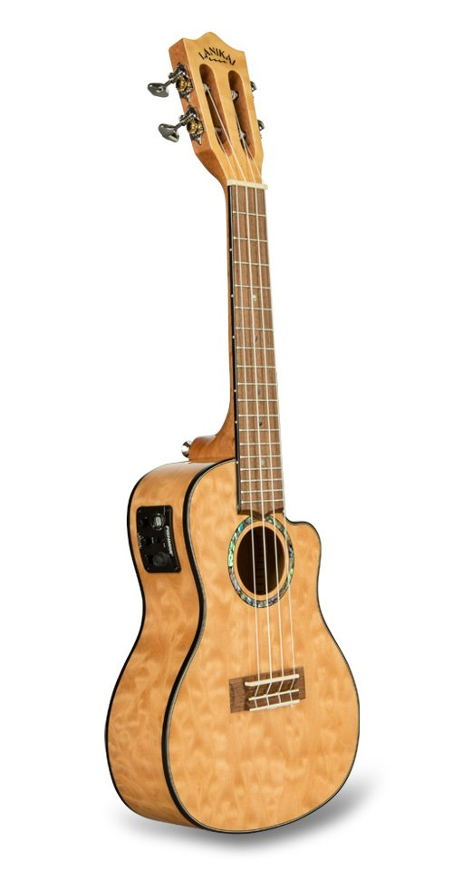 Lanikai QM-NACEC Quilted Maple Natural Cutaway Electric Concert