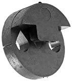 Violin Mute - Tourte Style Round Rubber Double Hole