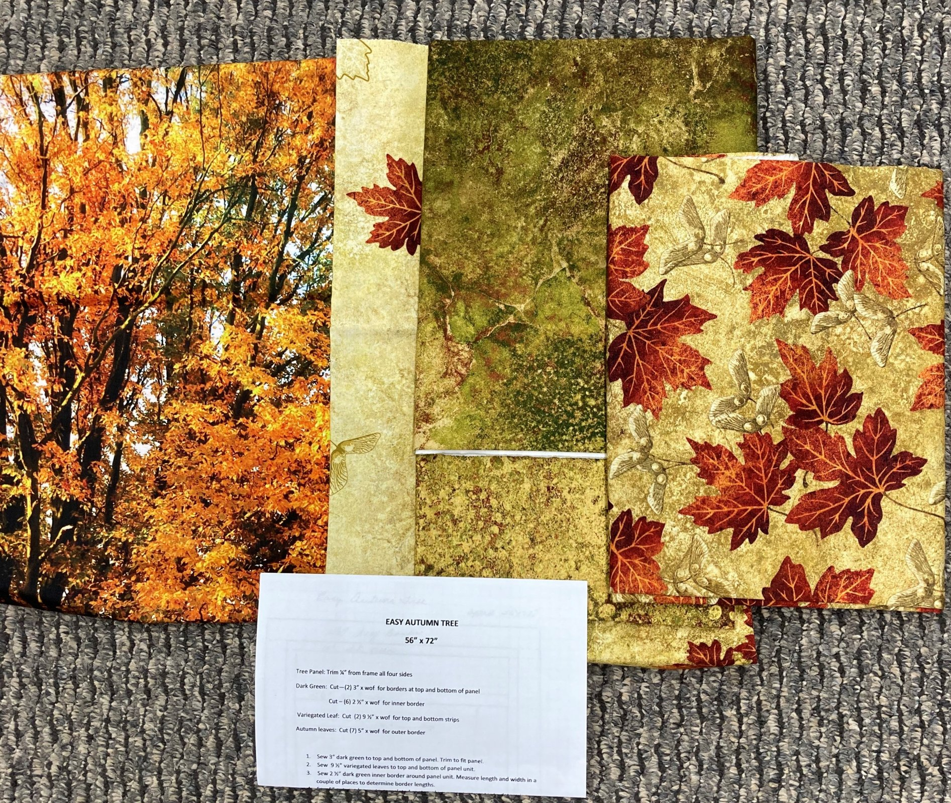 Autumn Tree Quilt Kit 56 x 72