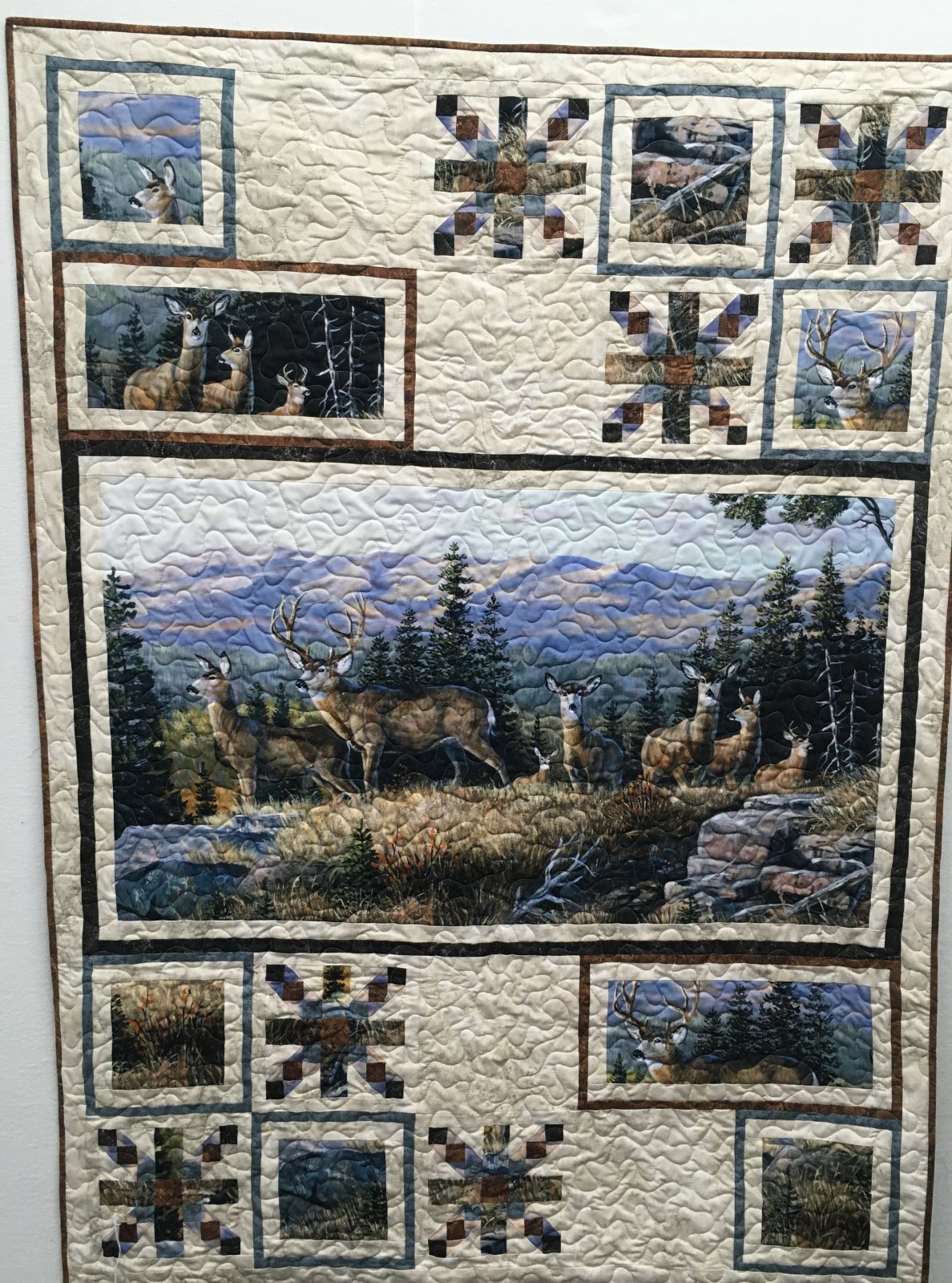 High Ridge Crossing Deer Lap 49 x 67