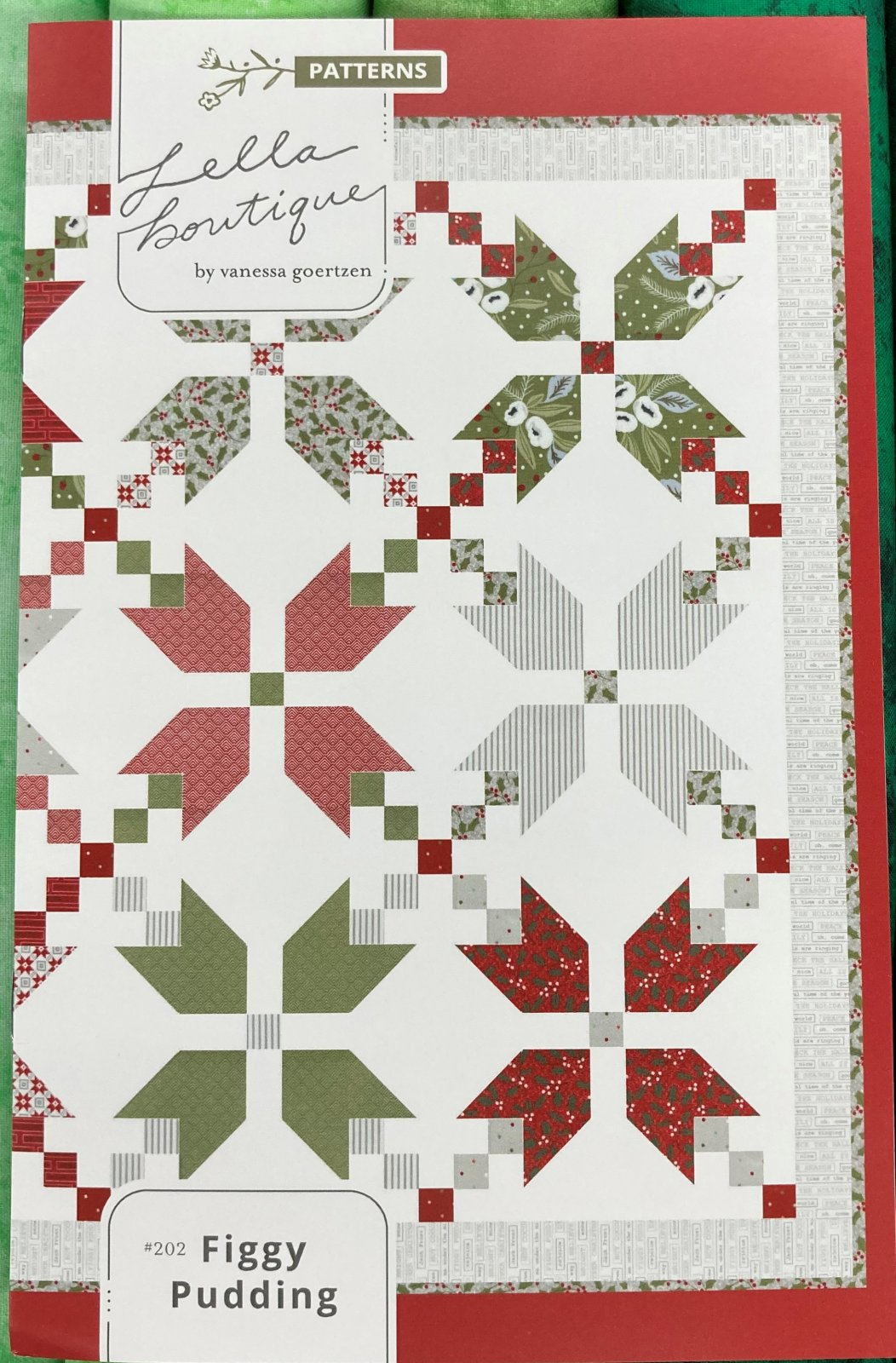 Figgy Pudding Quilt Kit 70.5 square