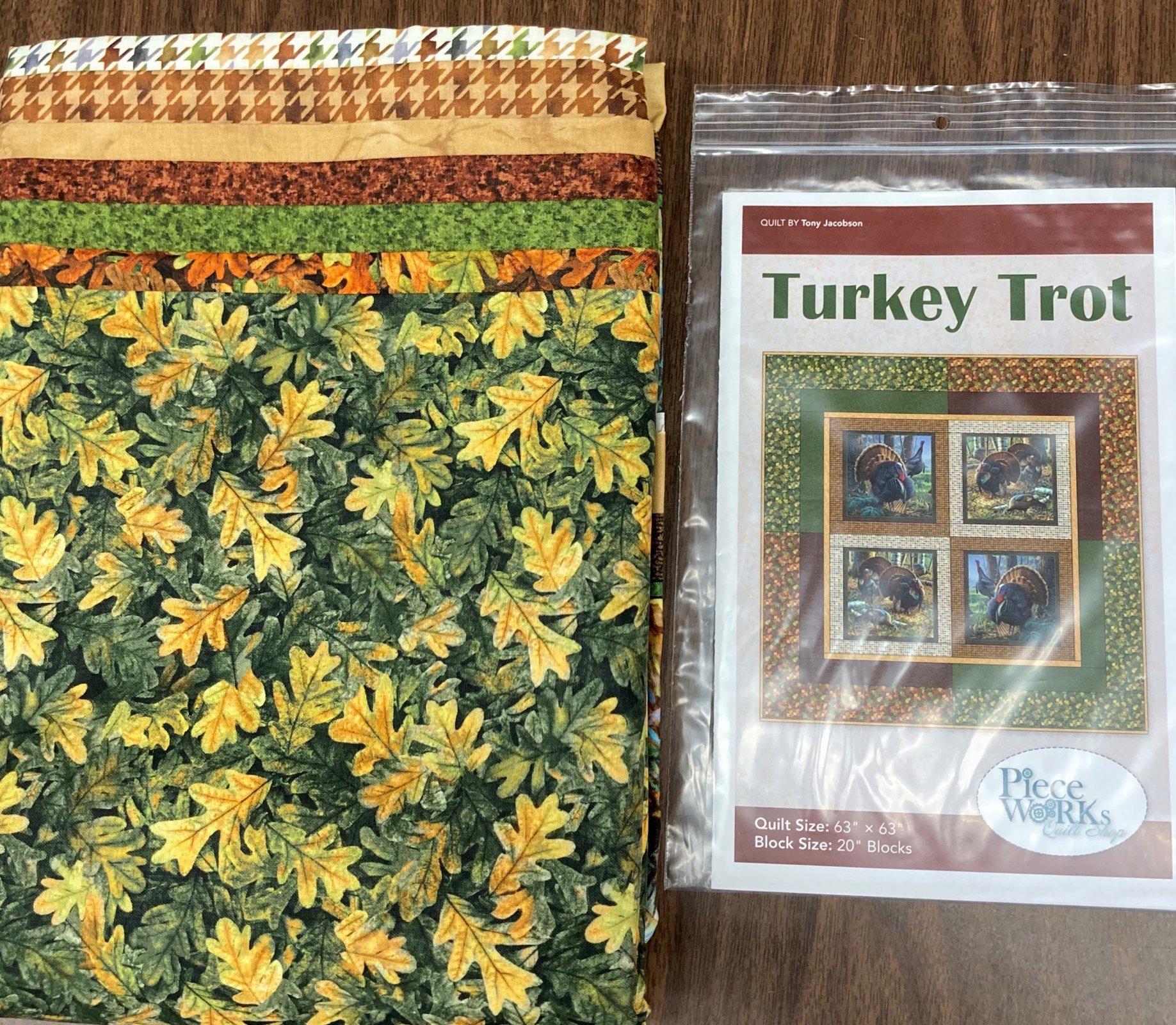 Turkey Trot Quilt Kit 63 x 63