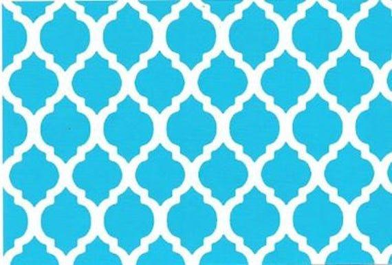 Quatrefoil Turquoise - Medium 58