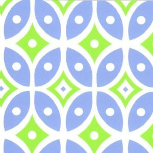 Light Blue and Green Geometric 58