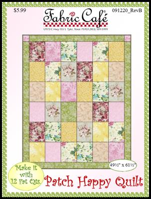 Patch Fat Quarter Quilt Pattern