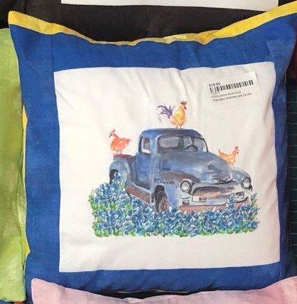 PSQ pillow-blue truck