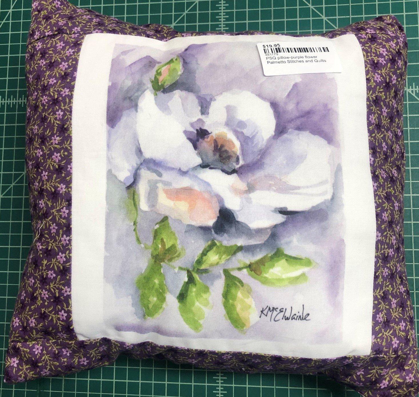 PSQ pillow-purple flower