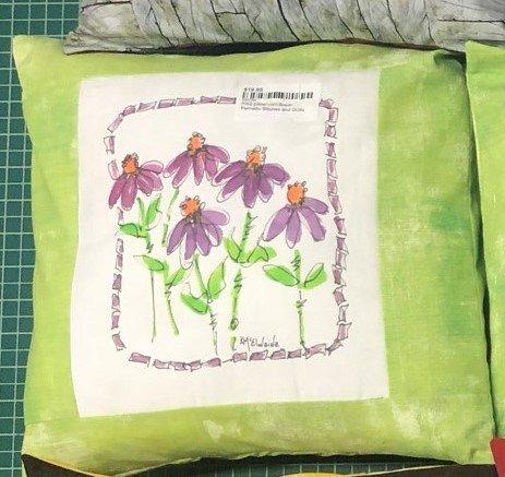 PSQ pillow-corn flower