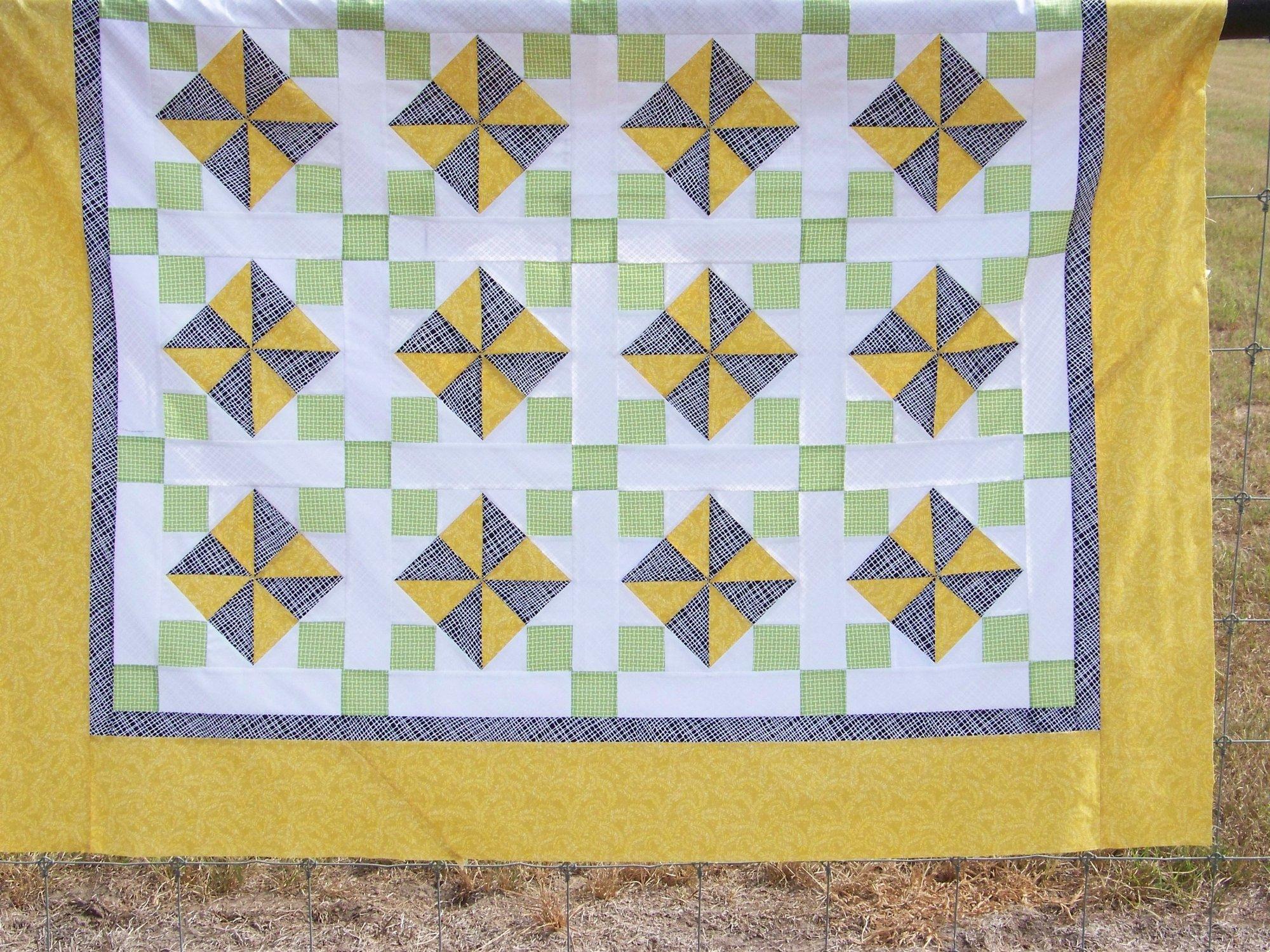 Sunshine & Pinwheels Quilt Kit