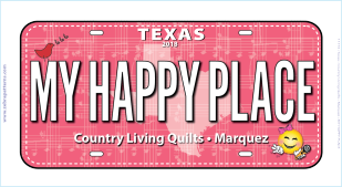 2018 My Happy Place License Plate