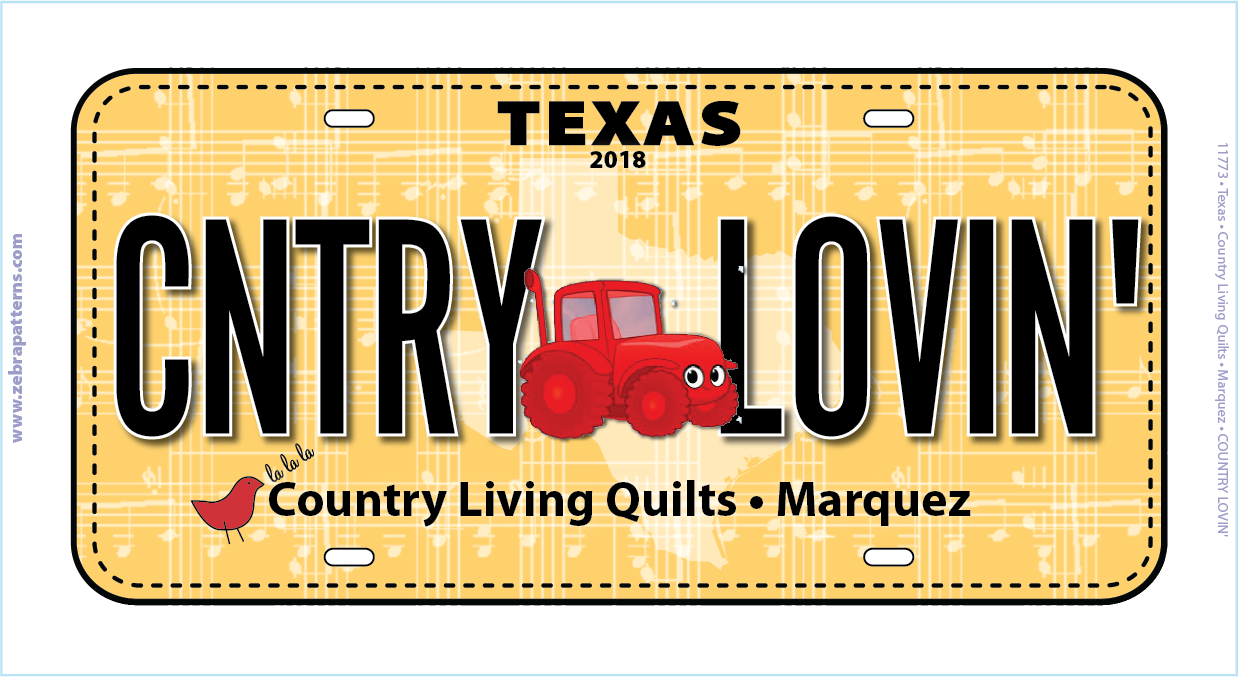 2018 Country Lovin License Plate