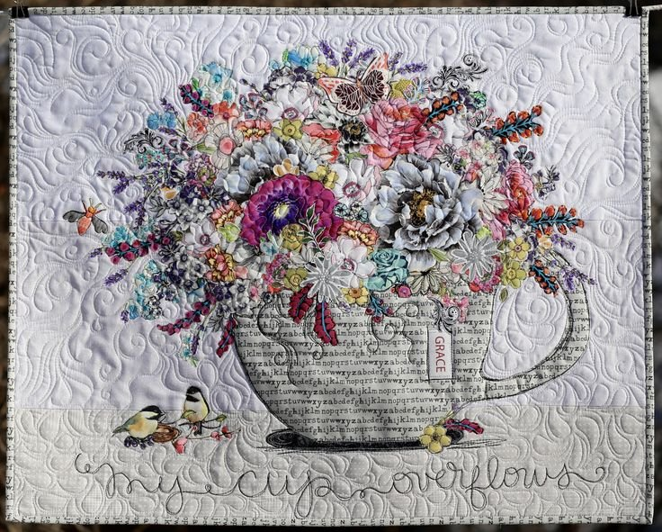 My Cup Overflows Collage Pattern