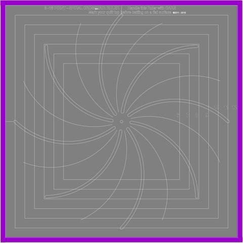 12.5 Cross Hair Square Spiral 6 & 12 Pts