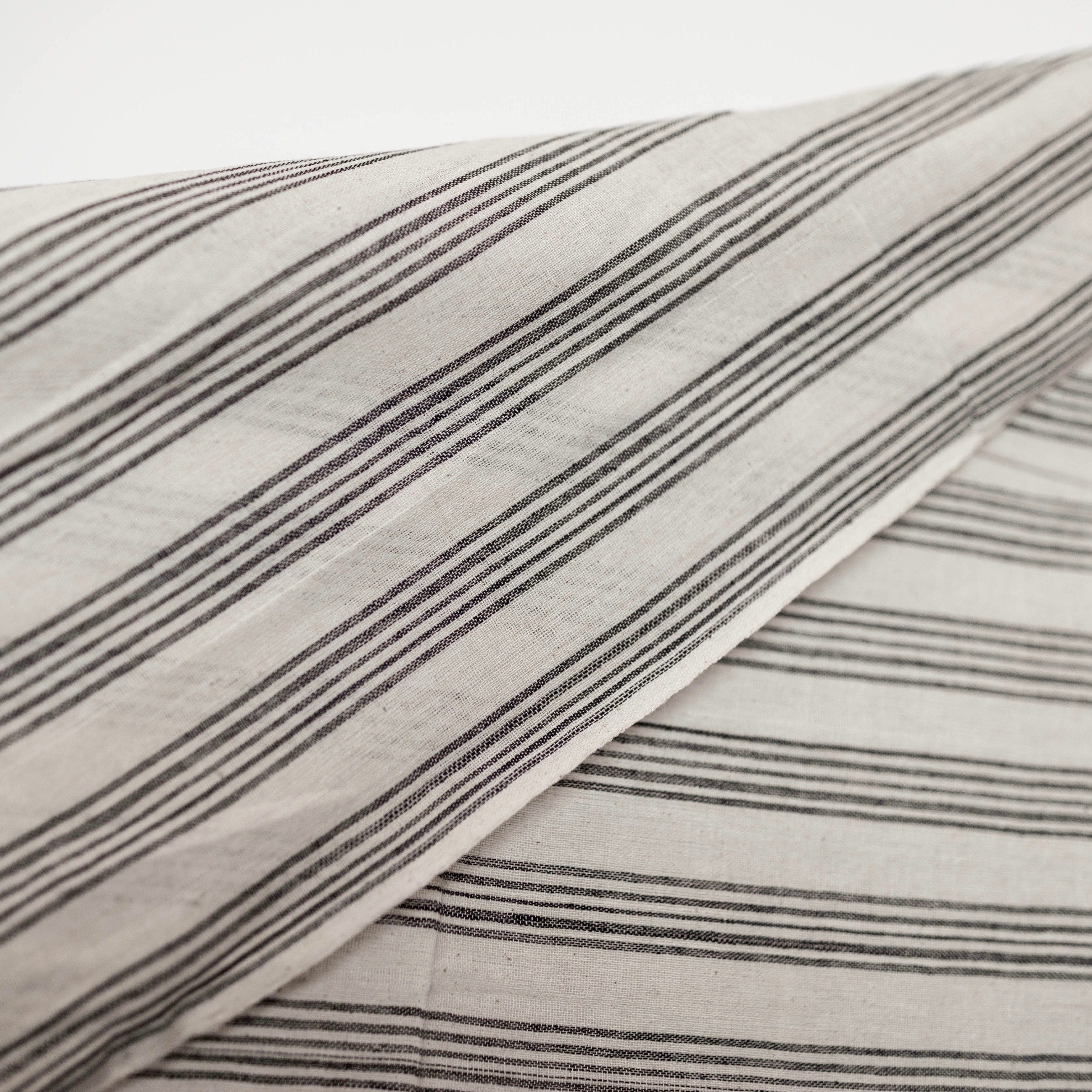 Black Striped Kotpad Cotton, Fair Trade Handwoven