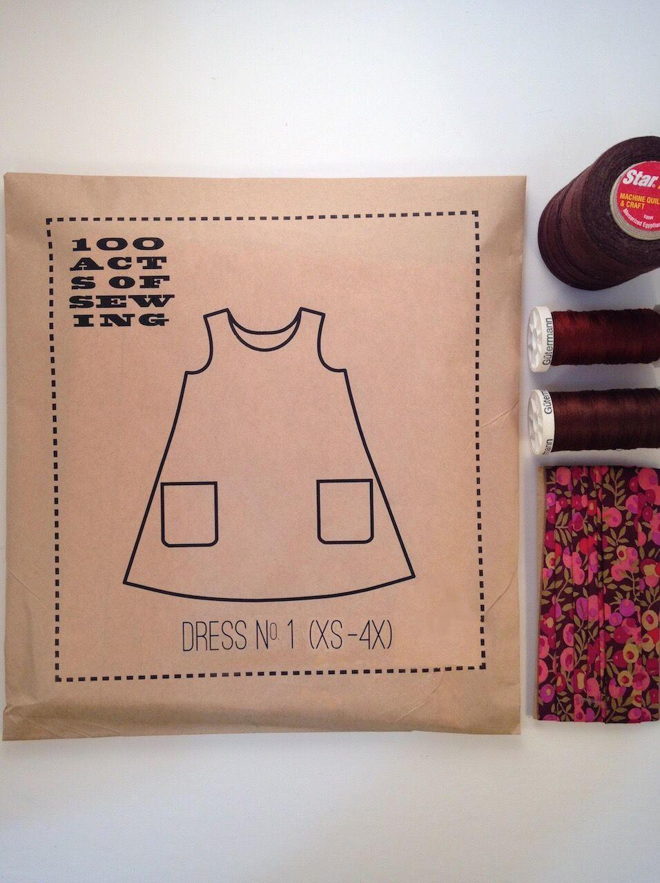 Dress No. 1, 100 Acts of Sewing Pattern.