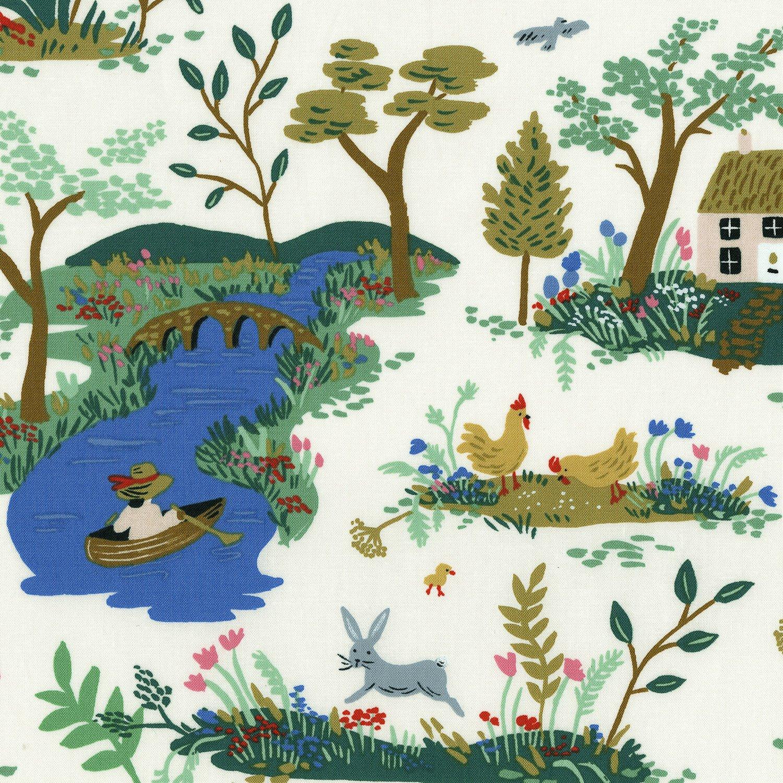Garden Toile, Cream, English Garden