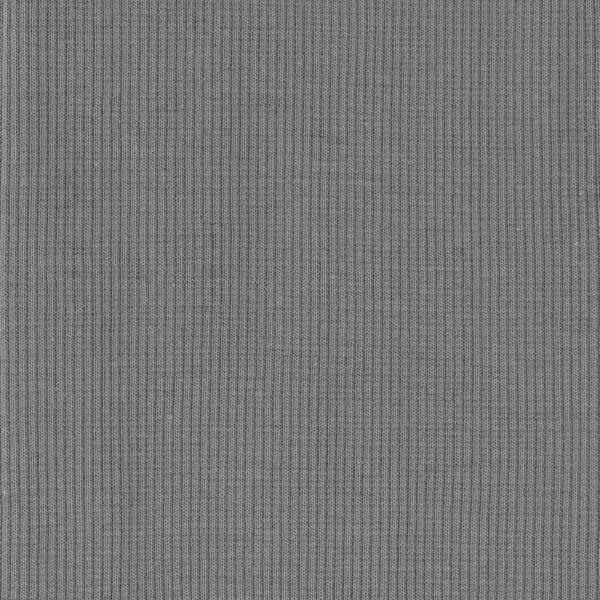 Gray, Organic Ribbed Knit