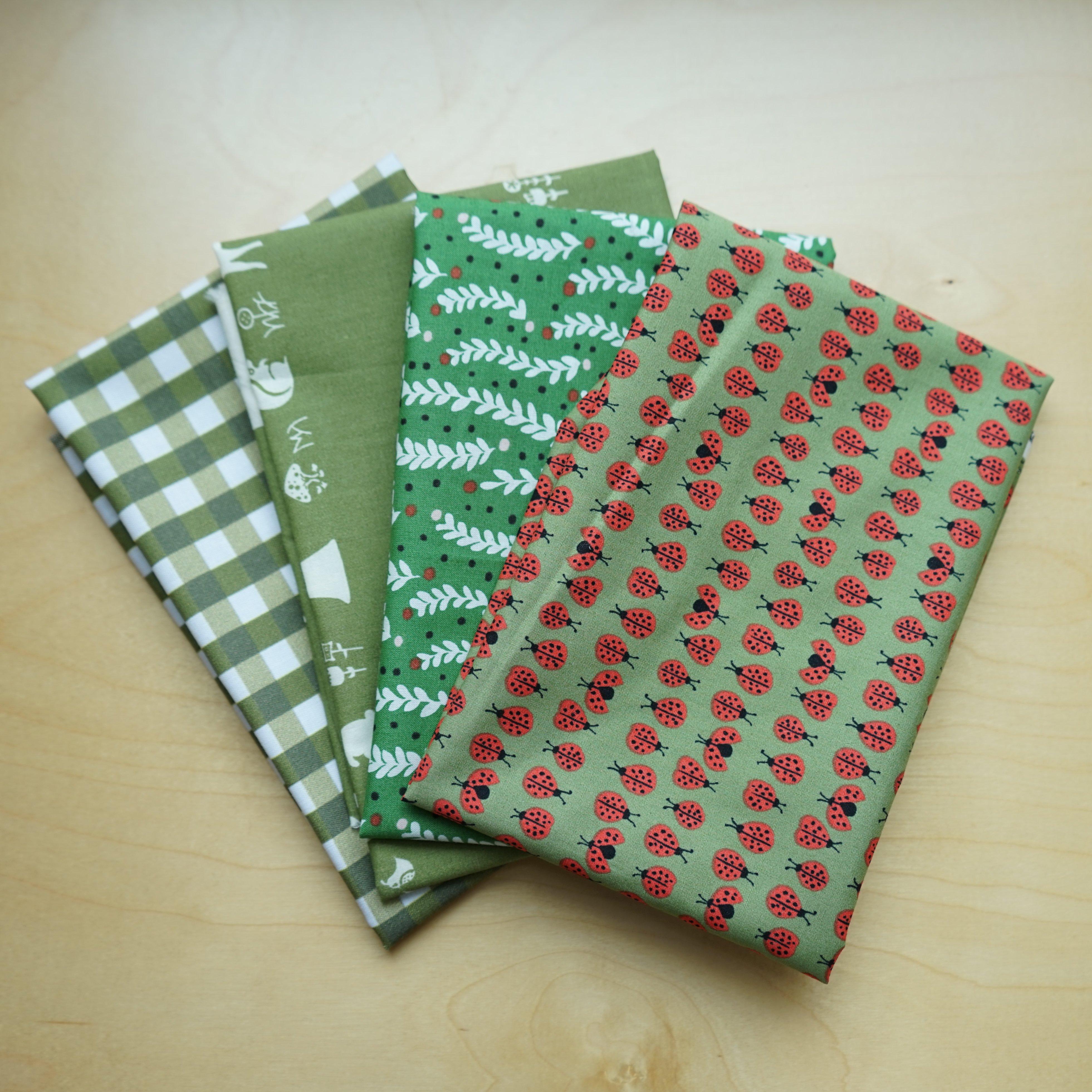 Green Organic Cotton Fat Quarter Bundle