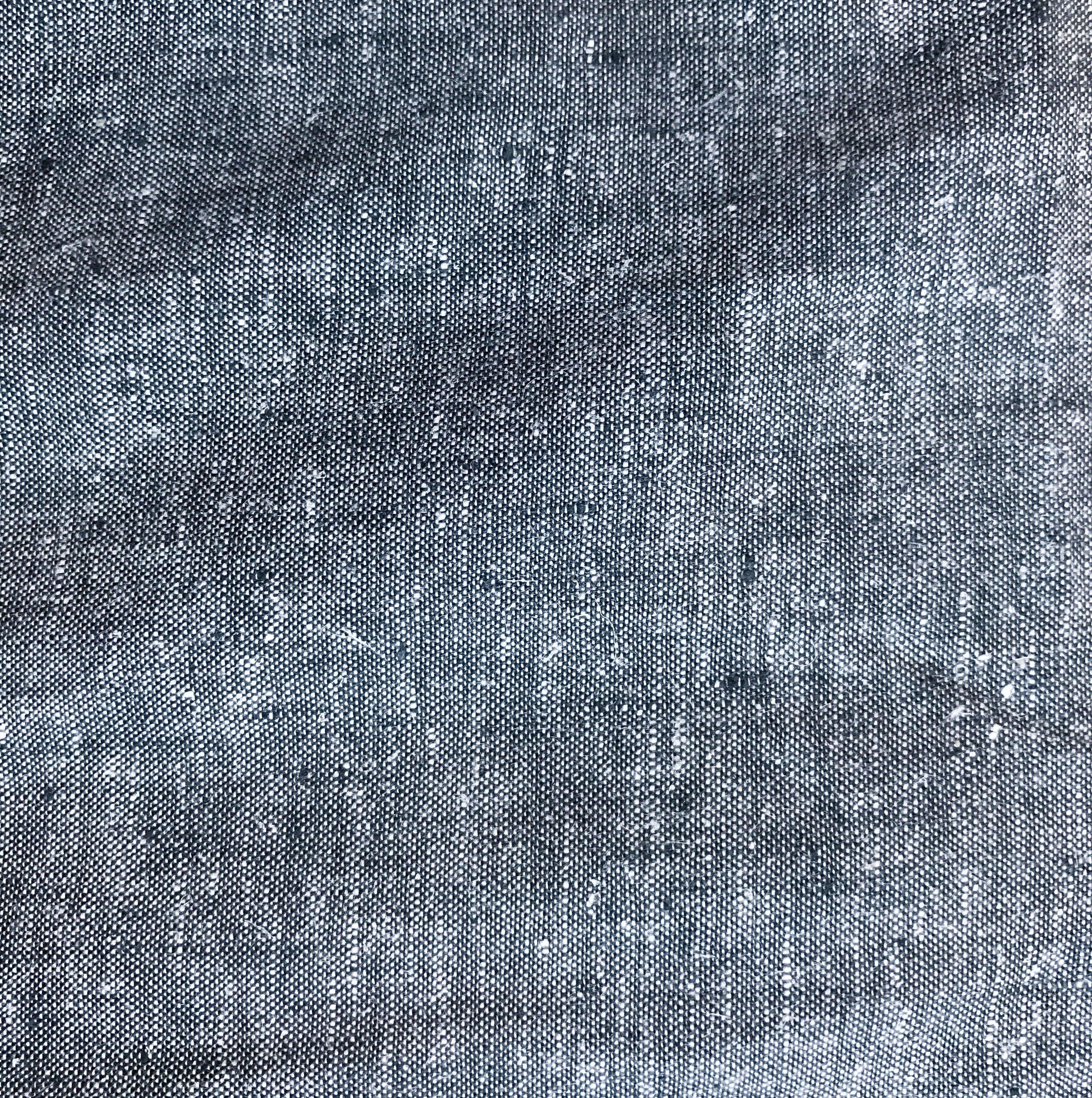 Yarn Dyed Woven Hemp/Organic Cotton Blend, HECT 01 Black