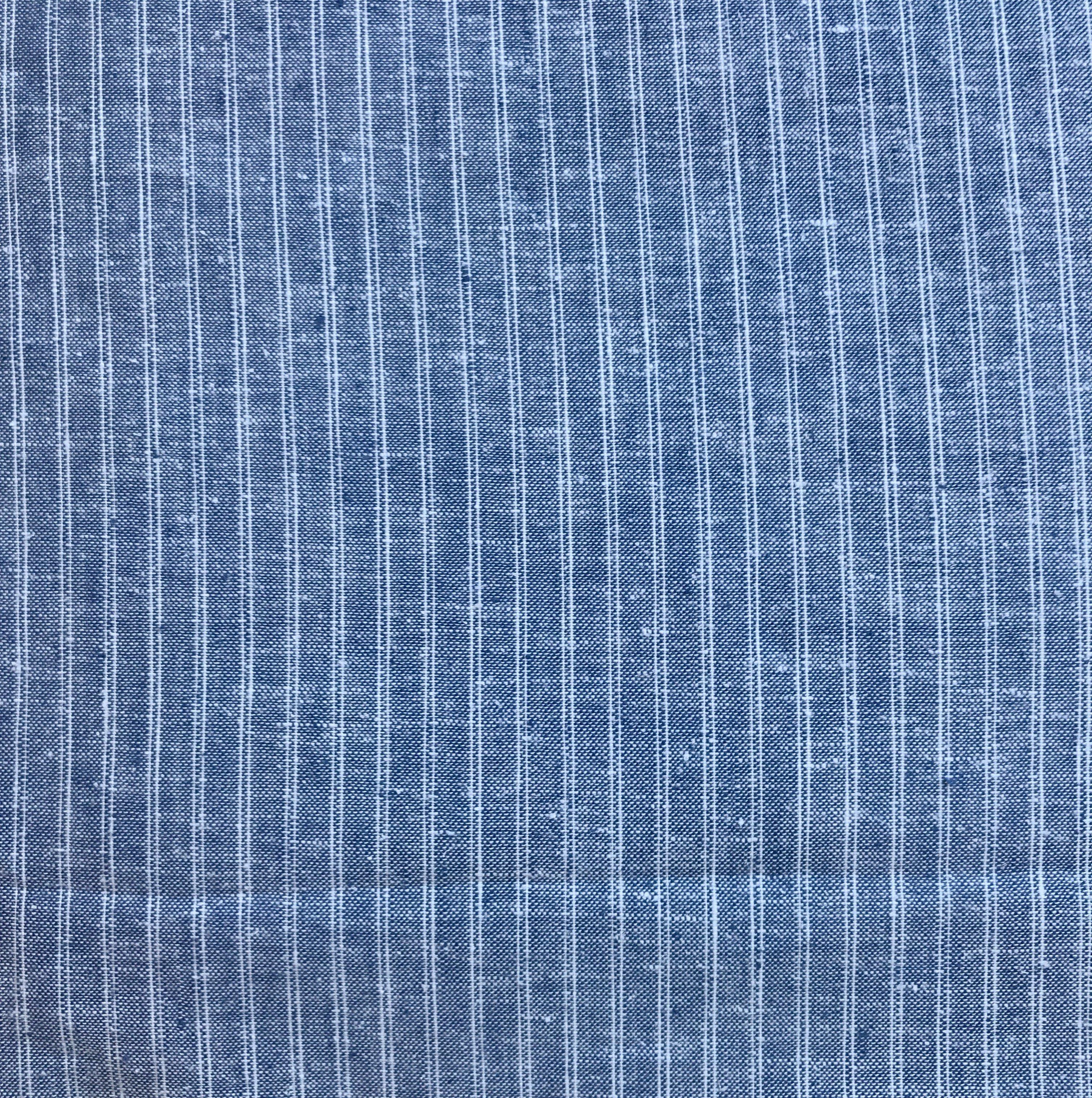 Blue Hemp/Organic Cotton Ticking, HECT06