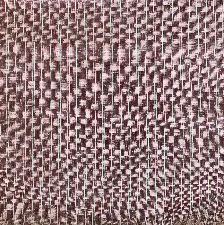 Maroon Hemp/Organic Cotton Ticking, HECT06