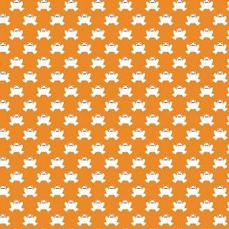 Hopping Along, Orange, Lotus Pond