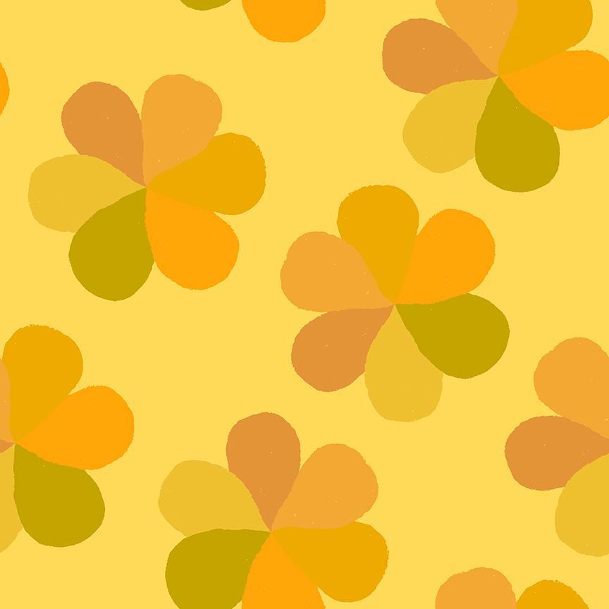 Mod Floral, Yellow, Flower Market