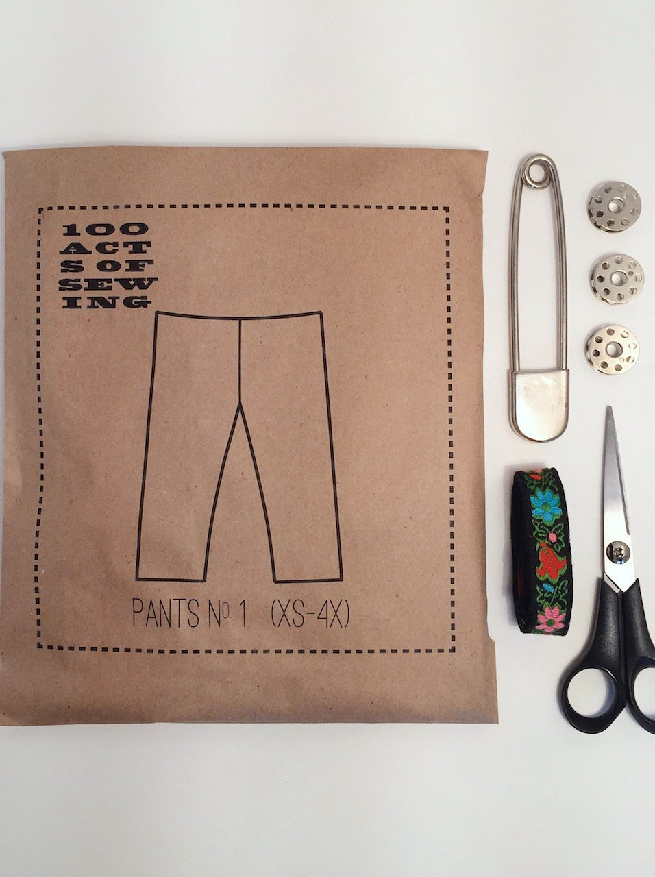Pants No. 1, 100 Acts of Sewing Pattern.