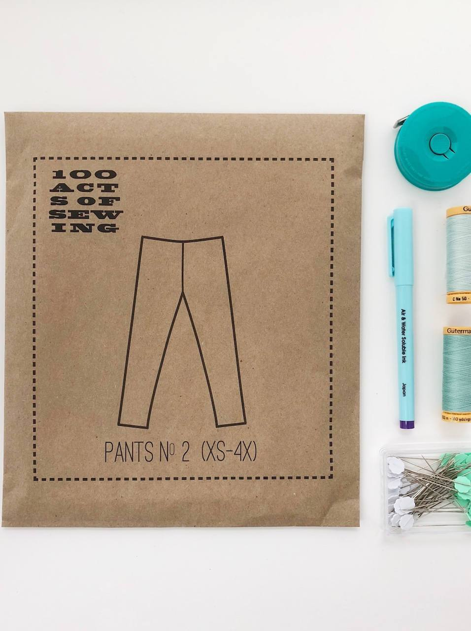 Pants No. 2, 100 Acts of Sewing Pattern.