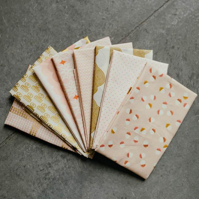 Pink and Gold C+S Fat Quarter Bundle