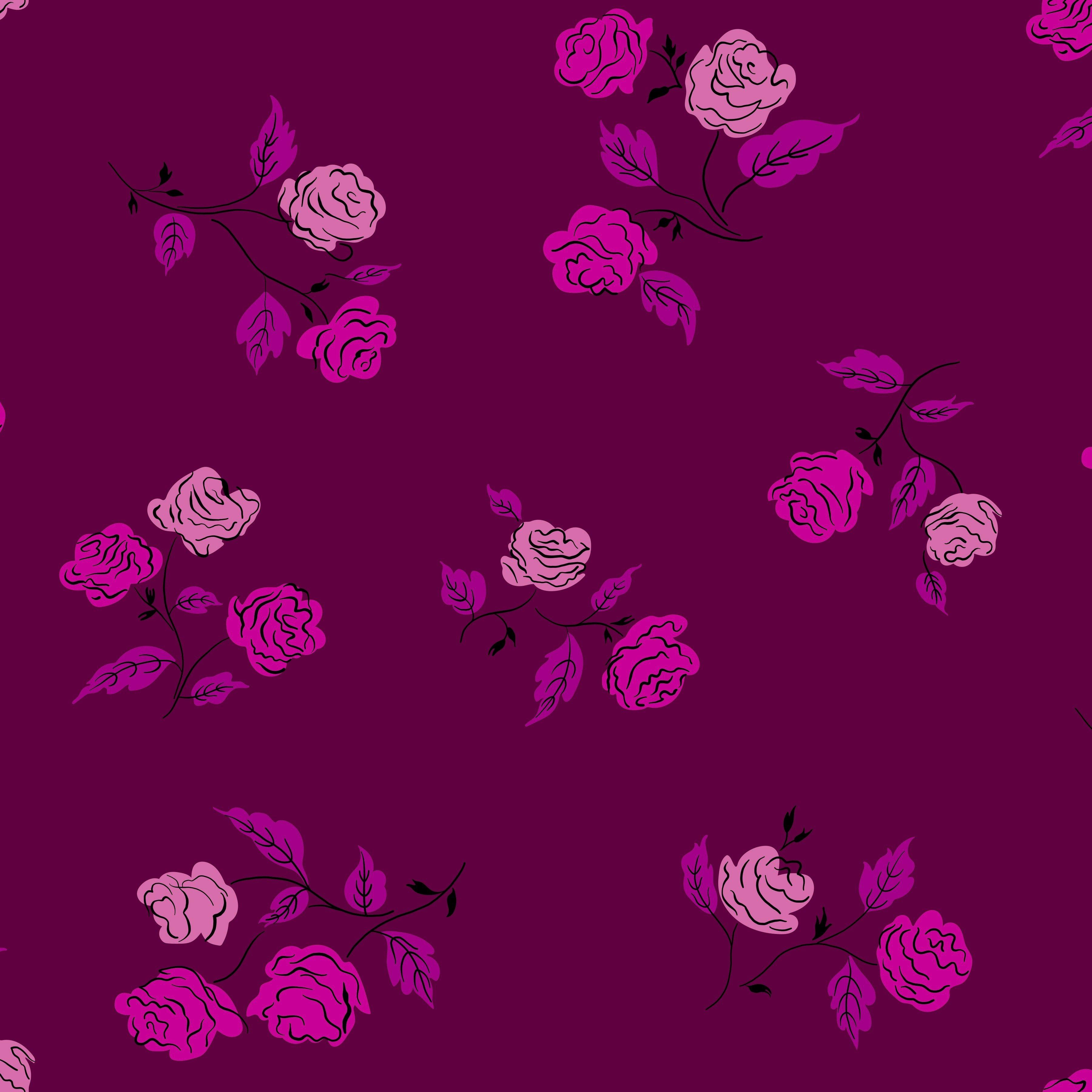 Roses, Magenta, Steno Pool